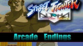 Street Fighter Alpha : All Endings