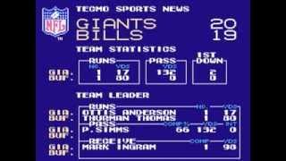 Tecmo Super Bowl: Ending