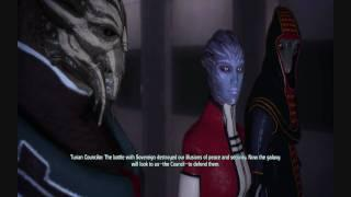 Mass Effect: Renegade Ending with Council Alive