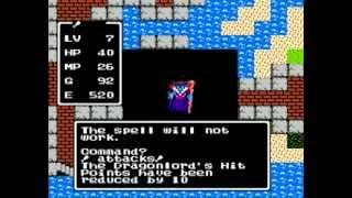 Dragon Warrior : Boss Battle and Ending